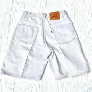 VTG 90's Levis Black Tab Khaki High Rise Shorts